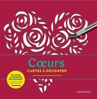 Séverine Prélat - Coeurs - Cartes à découper antistress & concentration - Avec 1 cutter et 1 planche de découpe inclus.
