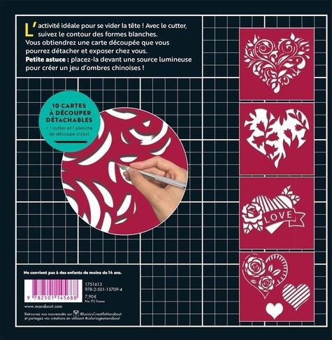 Coeurs. Cartes à découper antistress & concentration - Avec 1 cutter et 1 planche de découpe inclus
