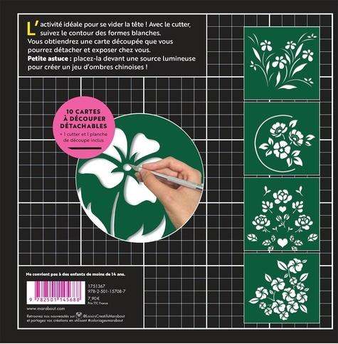 Fleurs. Cartes à découper antistress & concentration - Avec 1 cutter et 1 planche de découpe inclus