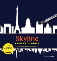 Séverine Prélat - Skyline - Avec 10 cartes à découper détachables + 1 cutter + 1 planche de découpe.