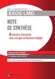 Séverine Visse-Causse - Note de synthèse - 6 dossiers d'actualité avec corrigés entièrement rédigés.