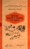 """Seymourina Cruse et Carole Chaix - Recettes bonnes à croquer et à colorier - Coffret avec 4 """"Carnets de recettes bonnes à croquer"""", 1 affiche et 1 boîte de crayons de couleur."""