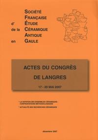 SFECAG - Actes du congrès de Langres - 17-20 mai 2007.