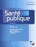 SFSP - Santé publique Volume 25 N° 1 suppl : Interventions de prévention auprès des jeunes : état des connaissances scientifiques.
