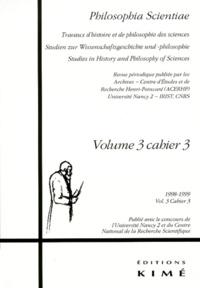 Histoiresdenlire.be PHILOSOPHIA SCIENTAE VOLUME 3 CAHIER 3 1998-1999 Image