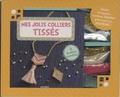 Shiilia - Mes jolis colliers tissés - Avec des perles blanches, des perles roses, des perles vert d'eau, des perles dorées, une chaîne dorée, un pompon, une bobine de fil et des anneaux de raccord.