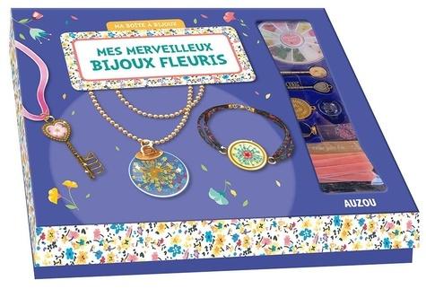 Mes merveilleux bijoux fleuris. Avec 1 livre de 24 pages et du matériel