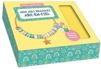 Shiilia - Mon joli bracelet arc-en-ciel - Avec 1 cordon doré, 1 charm étoile, des perles Heishi de 5 couleurs différentes, des pince-lacets, des anneaux de raccord, des fermoirs.