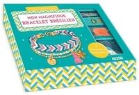 Shiilia - Mon magnifique bracelet brésilien - Avec des fils bleu foncé, bleu clair blanc et rose, 1 chaîne boules, des perles de rocaille, 1 charm étoile de mer, 1 médaille dorée, 1 pompom, des anneaux de raccord, des pince-rubans, 1 fermoir.