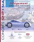 Sia - Allègement en Carrosserie Automobile - Congrès International, les 12 et 13 juin 2002 à Châlon-sur-Saône.