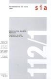 Sia - Construction durable - Bâtiment - Compléments au modèle de prestations SIA 112. 1 Cédérom