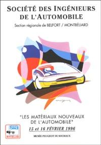 Les matériaux nouveaux de lautomobile - Recueil des conférences des 15 et 16 février 1996 au Musée de lAutomobile de Sochaux.pdf