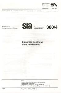 Sia - sn 565 380/4 L'énergie électrique dans le bâtiment.