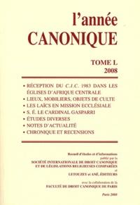 L'année canonique- Tome 50 (2008) -  SIDC |