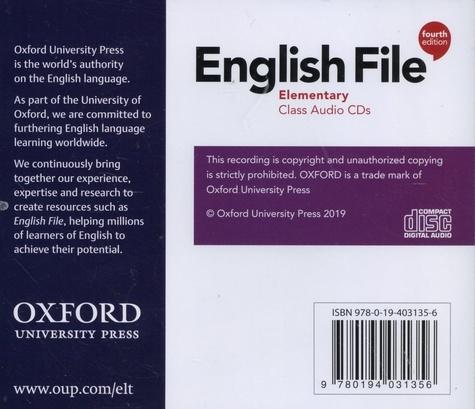 English File Elementary 4th edition -  4 CD audio