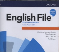 Christina Latham-Koenig et Clive Oxenden - English File Pre-intermediate. 4 CD audio