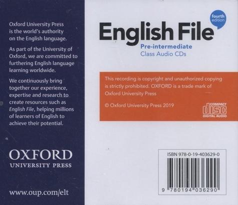English File Pre-intermediate 4th edition -  4 CD audio