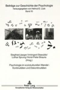 Galabria.be Psychologie im soziokulturellen Wandel - Kontinuitäten und Diskontinuitäten Image
