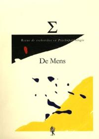 Mathieu Personnic - Revue de recherches en psychopathologie N° 4/2010 : De Mens.