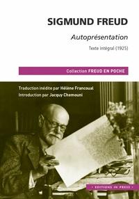 Sigmund Freud et Jacquy Chemouni - Autoprésentation - Texte intégral (1925).