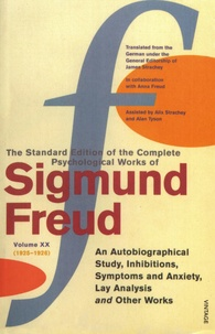 Deedr.fr The Standard Edition of the Complete Psychological Works of Sigmund Freud - Volume 20 (1925-1926) An Autobiographical Study, Inhibitions, Symptoms and Anxiety, Lay Analysis and Other Works Image
