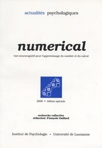 François Gaillard - Numerical - Test neurocognitif pour l'apprentissage du nombre et du calcul.