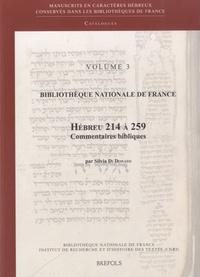 Coachingcorona.ch Bibliothèque nationale de France - Volume 3 - Hébreu 214-259 : Manuscrits de la bible hébraïque Image
