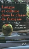 Simard et  Cote - Langue et culture dans la classe de français - Une analyse de discours.