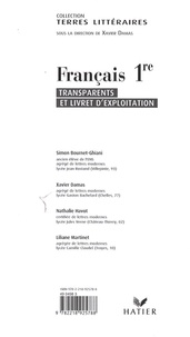 Français 1e- Transparents et livret d'exploitation - Simon Bournet-Ghiani | Showmesound.org