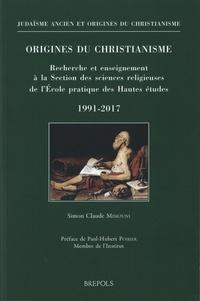 Simon Claude Mimouni - Origines du christianisme - Recherche et enseignement à la Section des sciences religieuses de l'Ecole pratique des Hautes études, 1991-2017.