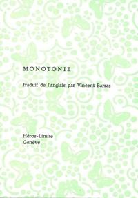 Simon Cutts - Monotonie - Edition bilingue français-anglais.