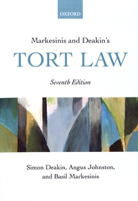 Simon Deakin et Angus Johnston - Markesinis and Deakin's Tort Law.