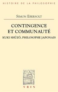 Simon Ebersolt - Contingence et communaute Kuki Shuzô, philosophe japonais.