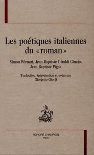 """Simon Fórnari et Jean-Baptiste Giraldi Cinzio - Les poétiques italiennes du """"roman""""."""