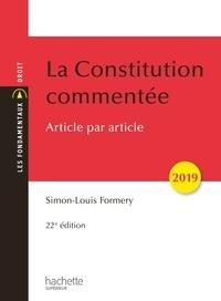 Simon-Louis Formery - La Constitution commentée 2019.