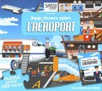 Simon Miller - Voyage, découvre, explore l'aéroport - Puzzle ovale 205 pièces + un livre.