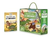 Simon Miller - Voyage, découvre, explore Les dinosaures - Un livre de 32 pages et 205 pièces de puzzle.
