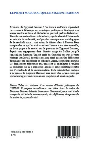 Le projet sociologique de Zygmunt Bauman. Vers une approche critique de la postmodernité