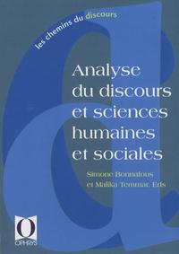 Simone Bonnafous et Malika Temmar - Analyse du discours et sciences humaines et sociales.