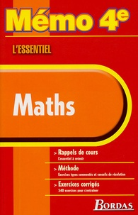 Simone Such et Aleth Gallicé - Maths 4e.