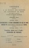 """Simone Vuillemin et  Faculté des sciences de l'Univ - Contribution à l'étude écologique du lac de Tunis - Biologie de """"Mercierella enigmatica"""" Fauvel. Suivi de Respiration des crustacés."""