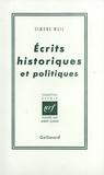 Simone Weil - Ecrits historiques et politiques.