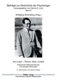 Histoiresdenlire.be Das Frühwerk Kurt Lewins - Zu den Quellen sozialpsychologischer Ansätze in Feldkonzept und Wissenschaftstheorie Image