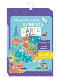 Skipp Hui - Ma première pochette d'aimants Carte de France - Avec 18 grands aimants et 1 poster.