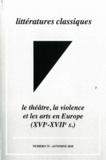 SLC - Le théâtre, la violence et les arts en Europe (XVIe-XVIIe siècle).