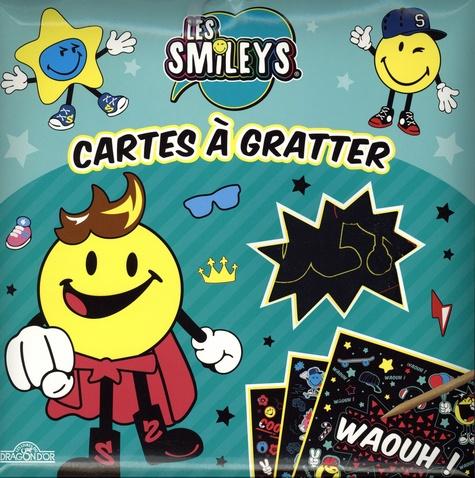 Cartes à gratter Les Smileys. Avec 10 cartes à gratter, 1 bâtonnet