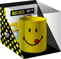 SmileyWorld - Coffret Mug cakes Smiley - Contient : 1 livre, 1 mug, 1 carnet.