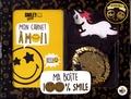 SmileyWorld - Ma boîte 100 % smile - Contient 1 carnet, 1 porte-clé en sequins réversibles, 5 stickers géants.