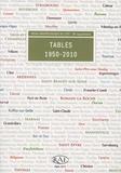 Claire Touzel - Revue archéologique de l'Est Supplément N° 38 : Tables 1950-2010.