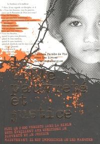 Société biblique canadienne - La bible pauvreté et justice - Version Parole de Vie avec les livres deutérocanoniques.